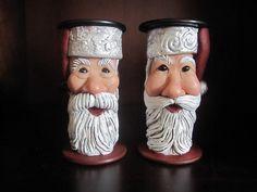 Hand-Sculpted Santa Spools