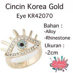 Saya menjual Cincin Korea Gold Eye KR42070 seharga Rp40.000. Dapatkan produk ini hanya di Shopee! https://shopee.co.id/larisastore/9456202 #ShopeeID