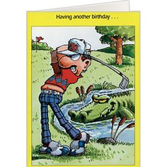 Golf Course Hazards Birthday Card Cards Wishes Funny Greeting