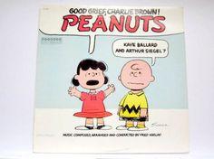 Peanuts Vinyl Record Good Grief Charlie Brown LP Music Album