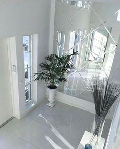 Home Living Room, Living Room Designs, Living Room Decor, Bedroom Decor, Hallway Decorating, Interior Decorating, Hallway Mirror, Mirror Mirror, Wall Mirror Ideas