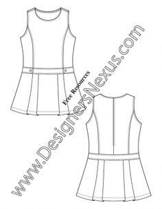 Fashion Technical Drawing: 250+