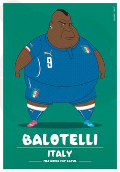 #Illustration : Balotelli, Italie | #Football #CDM2014