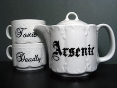 Arsenic, toxic, deadly tea set