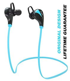 Special Offers - Bluetooth Headphones TOTU Wireless Bluetooth Stereo Earbuds Sweatproof Running Headset In-Ear Sports Headphones with Microphone  Blue - In stock & Free Shipping. You can save more money! Check It (April 01 2016 at 12:37AM) >> http://eheadphoneusa.net/bluetooth-headphones-totu-wireless-bluetooth-stereo-earbuds-sweatproof-running-headset-in-ear-sports-headphones-with-microphone-blue/
