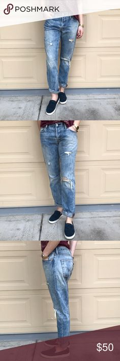 Levi Strauss Boyfriend Jeans Size 28 Cotton, No Stretch Levi's Jeans Boyfriend