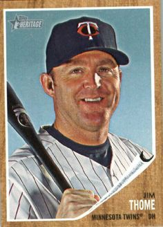 2011 Topps Heritage Baseball Card #180 Jim Thome - Minnesota Twins - MLB Trading Card by Topps. $1.00. 2011 Topps Heritage Baseball Card #180 Jim Thome - Minnesota Twins - MLB Trading Card