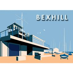 BEXHILL SAILING CLUB 50 x 70 cms