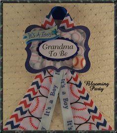 Baseball Grandma To Be corsage Baseball Corsage by BloomingParty
