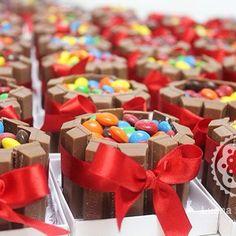 mini cake kitkat pra cada pessoa