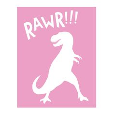 T-Rex PInk Peel and Stick Poster