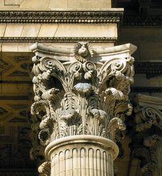 Corinthian capital in the Pantheon (St. Genevieve), Paris