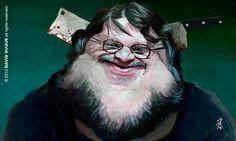 Caricatura de Guillermo del Toro.