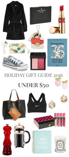 HOLIDAY GIFT GUIDE 2016 UNDER $50 // Shoegal Out In The World