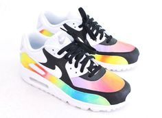 the latest 634a1 88299 Custom Hand-Painted Color Blast Nike Air Max 90 Running Shoe