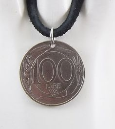 Italian coin necklace - https://www.etsy.com/listing/255409104/italian-coin-necklace-100-lire-coin