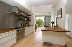 kitchen extention - wall shelves