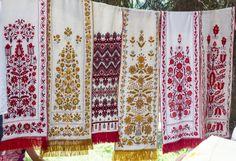 Embroidered towels (rushnik), by Lidia Bebeshko, Uman, Ukraine