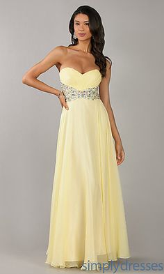 Floor Length Stapless Sweetheart Dress at SimplyDresses.com Maybe shorter possibly
