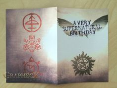 Supernatural inspired personalized birthday card by Graphecx