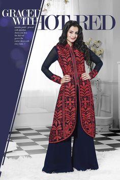 Blue Designer Party Wear Salwar Suit From Hdbazaar.