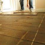 Restoring matai floorboards