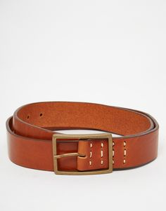 Belt by Royal Republiq Smooth leather Pin buckle with single keeper Contrast stitch detailing Treat with a leather protector 100% Real Leather Belt width: 3.5cm/1.4""