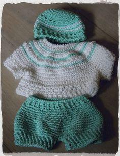 tenue crochet - bébé bonheur corolle - vert
