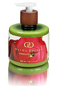 Dayna Decker Hand & Body Lotion 10.1 oz - POSY by Dayna Decker. $26.00. POSY: An afternoon stroll through a Parisian flower shop. Hydrangea, Calla Lily, Jasmine, White Woods, Clove.. Amazing Scent. 10.1 oz. Dayna Decker Posy Essence Lotion is a botanical essence hand & body Lotion with a luxurious formulation containing B, C, E and F vitamins, amino acids, anti-oxidants, and Dayna Decker's proprietary MultiActive Wood Complex, which hydrates and nourishes the hands and body. ...