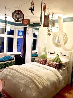 Bedroom decoration ceiling dream catcher mirror