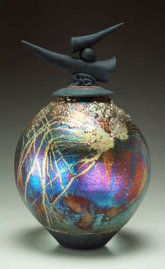 Raku Pottery Gallery by Steven Forbes deSoule-All of his pieces are unique and beautifully done!