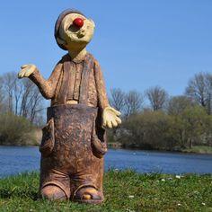 Garden Sculpture, Clowns, Outdoor Decor, Figurative, Sculptures, Pottery, Handicraft, Characters, Play Dough