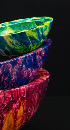 Dyed Box Elder Burl Bowls by Kirk DeHeer from Craft Supplies USA Source by Chripocampe Small Wood Projects, Wood Turning Projects, Cool Woodworking Projects, Woodworking Supplies, Woodworking Lathe, Welding Projects, Craft Supplies Usa, Arts And Crafts Supplies, Wood Router