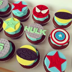 Super Hero Cupcakes www.facebook.com/breezyscakes