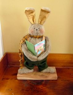 Primitive Easter Bunny Rabbit by ahlcoopedup on Etsy