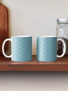 """Milky Blue #1"" Mug by Kettukas | Redbubble Wood Mug, Summer Patterns, Modern Materials, Minimalist Art, Unique Home Decor, Rustic Design, Throw Rugs, Mug Designs, Shades Of Blue"