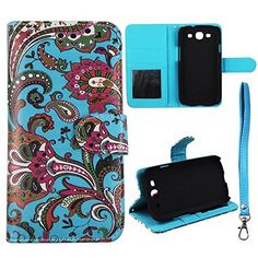 Buy Blue Paisley Flip Wallet ID Pouch Samsung Galaxy S 3 III i9300 Sprint,Verizon, at&t Case Cover Hard Phone Case Snap-on Cover Rubberized Touch Faceplates NEW for 10.99 USD | Reusell