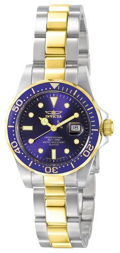 Invicta 4868 Women's Swiss Quartz Two Tone Blue Dive Watch