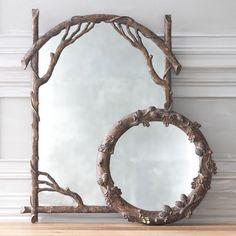 Faux bois mirror at Wisteria.com.
