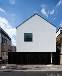 Minimalist Architecture, Japanese Architecture, Contemporary Architecture, Architecture Design, Design Exterior, Gable Roof, Minimal Home, Facade House, Modern House Design