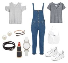 """""""Jumpsuit with tees"""" by hillarymaguire ❤ liked on Polyvore featuring M.i.h Jeans, LnA, Current/Elliott, Y-3, Kenneth Jay Lane, Kate Spade, Georgia Perry, Mansur Gavriel and Kismet by Milka"""