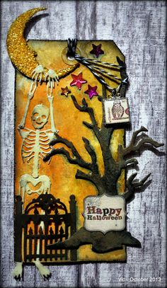 Vic's Creations: October 2013 Tag based on Tim Holtz tags of 2013