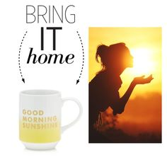 """""""Bring It Home: Good Morning Sunshine Mug"""" by polyvore-editorial ❤ liked on Polyvore featuring interior, interiors, interior design, home, home decor, interior decorating, Fringe and bringithome"""