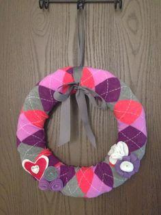 Sock Wreath