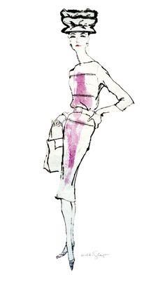Suzy c.1956 Fashion Illustration by Hilda Glasgow