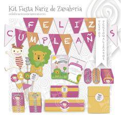 Kit Fiesta Niña - Girl Party Kit por Virginia Martínez Ibarra en Etsy