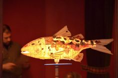 paper mache fish lamps - Google Search