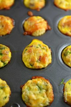 Mini Quiche Recipe -Delicious for breakfast, brunch or parties! Great to make ahead for easy entertaining or busy morning breakfast! from addapinch.com