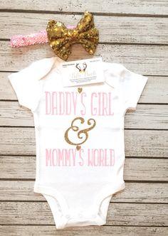 Daddy's Girl & Mommy's World Bodysuit Baby Girl by BellaPiccoli
