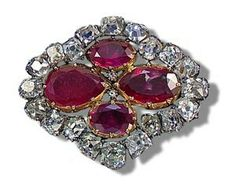 Duchess of Angouleme ruby brooch
